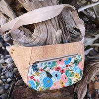 cork fabric fanny pack