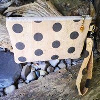 cork wristlet with hemp