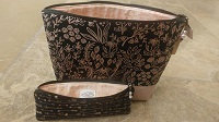 cosmetic bag cork bottom with brush case